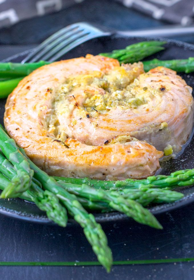 Here's one of the best ways to make melt-in-your-mouth, delicious broiled salmon, and it's a surprisingly simple recipe. Stuff or coat the salmon with a mixture of mustard, horseradish and scallions; set it under the broiler; and in just a few minutes, you'll have an elegant salmon dinner.