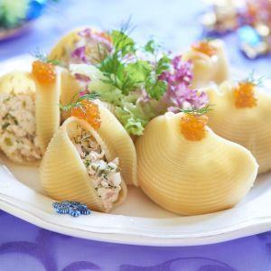 Lumaconi Pasta with Seafood Salad   Recipe4Living
