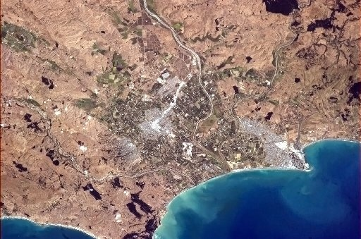 Hawke's Bay from the International Space Station. Picture: NASA/Chris Hadfield