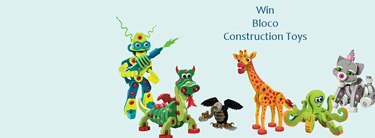 WIN Bloco Construction Toys from Green Ant Toys Enter Through Facebook - Closes 7th Feb 2014 https://www.facebook.com/GreenAntToys