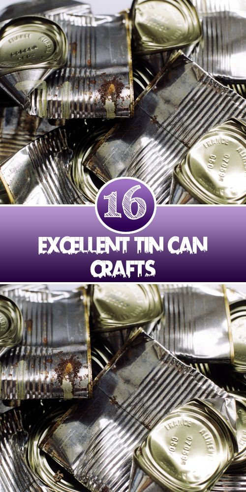 The cans of food need not go to waste! You can use them to create household items and decorative items for your home. Check out our inspirations.   Recycled cans Recycled cans and little bit p…