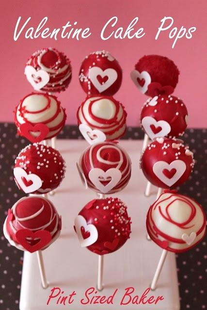 Cake Pops plus 20 other Valentine's Day projects and crafts! Love the edible glitter swirl on these.