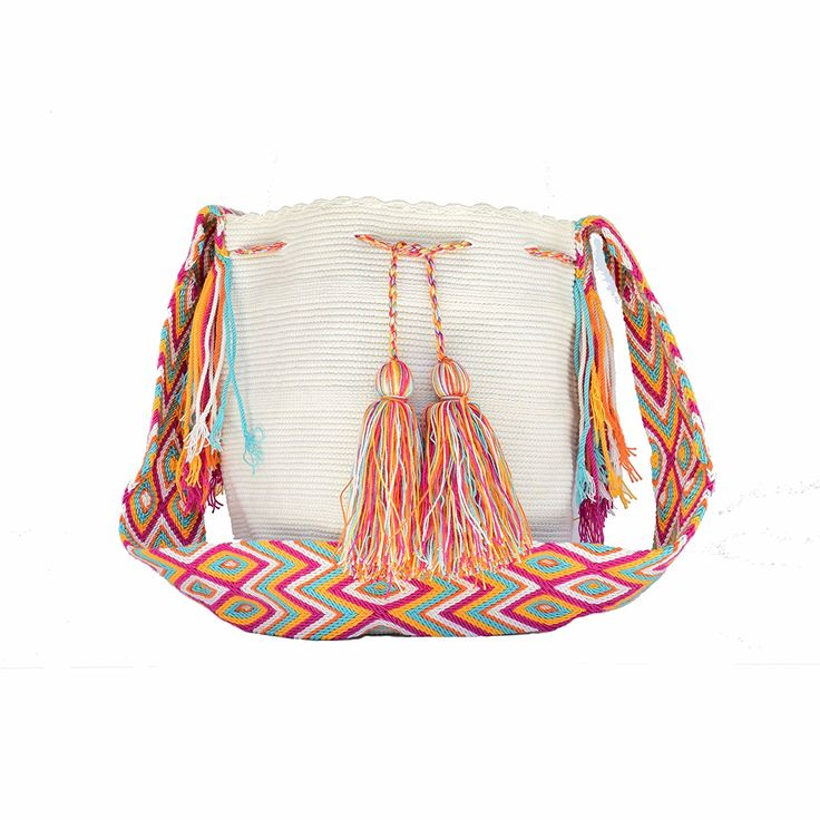 WAYUU Mochila Bag - Large - Handmade with crochet technique - Made in Colombia (318): Handbags: Amazon.com