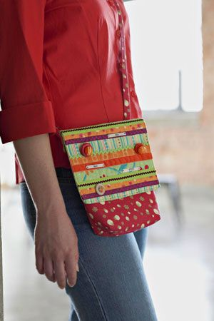 Quilted Gifts for Babies and Children - mini messenger bag