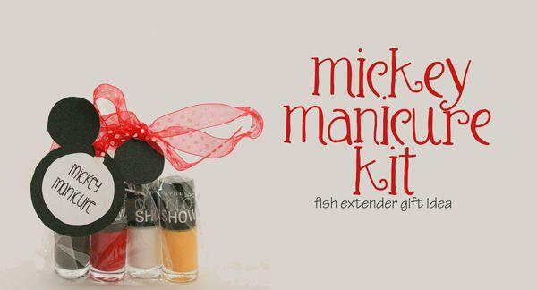 mickey manicure kit :: fish extender gift idea