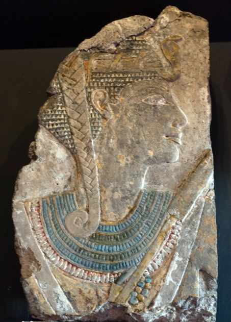 Portrait of Princess Neferure, c1500 BC  Egypt, Thebes, Temple of Deir el-Bahri Limestone relief fragment  The McManus