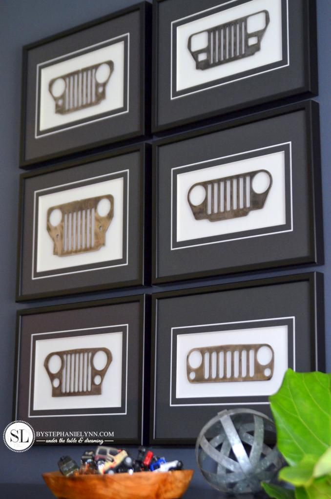 Framed Mini Jeep Grill Replicas #michaelsmakers