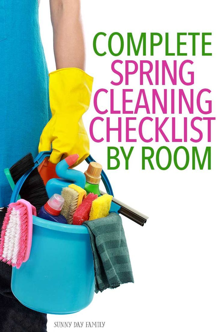 Everything you need for a total spring cleaning! Love this list to get your house clean for spring - so simple to follow and there's a printable cleaning planner too!