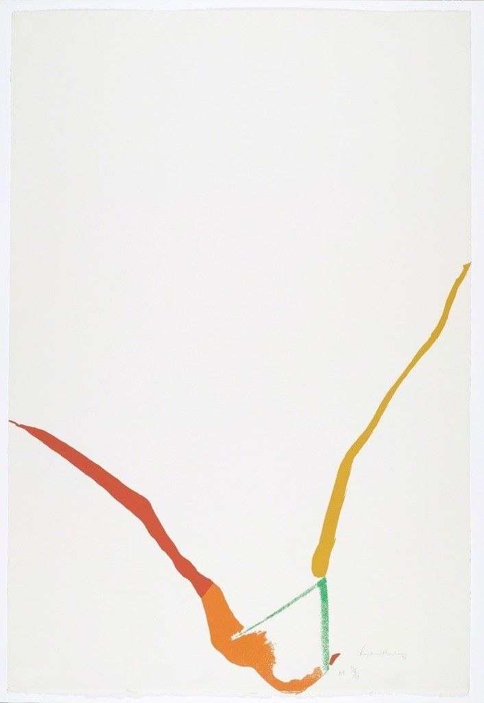 Helen Frankenthaler, Untitled (What Red Lines Can Do), 1970, Anders Wahlstedt Fine Art