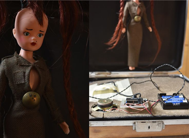 Speldosa Music box Josephine die Sängerin by Evelina Lindahl Redesign Barbie