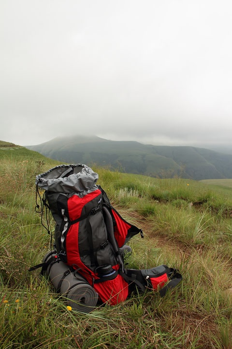 Hiking Pack Over The Berg