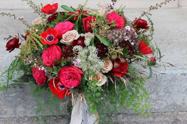 17 best images about pantone marsala inspiration on pinterest pantone color red gold and bouquets - Red garden rose bouquet ...
