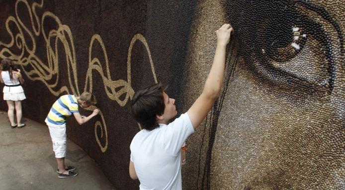 The 1 Million Coffee Bean Mosaic