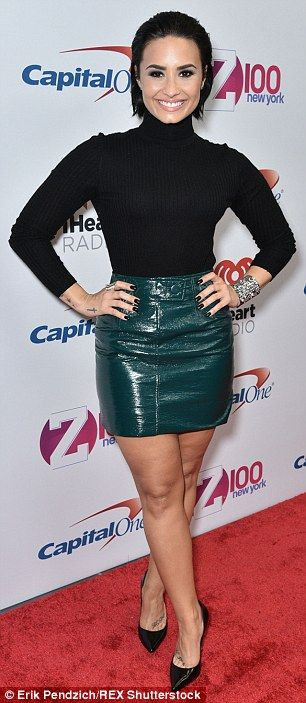 Fashion gold: Demi Lovato and Selena Gomez hit a fashion high note at Z100's Jingle Ball i...