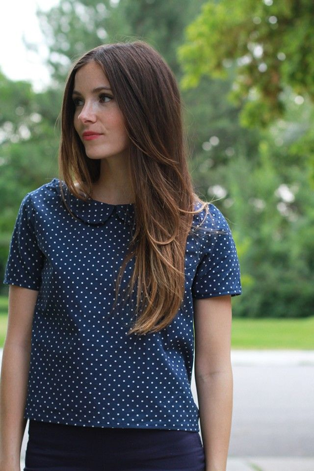 DIY Peter Pan Collar Top - FREE Sewing Tutorial