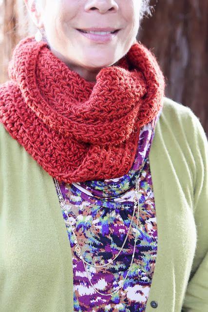 Alysia Infinity Scarf Crochet Pattern - Lady by the Bay