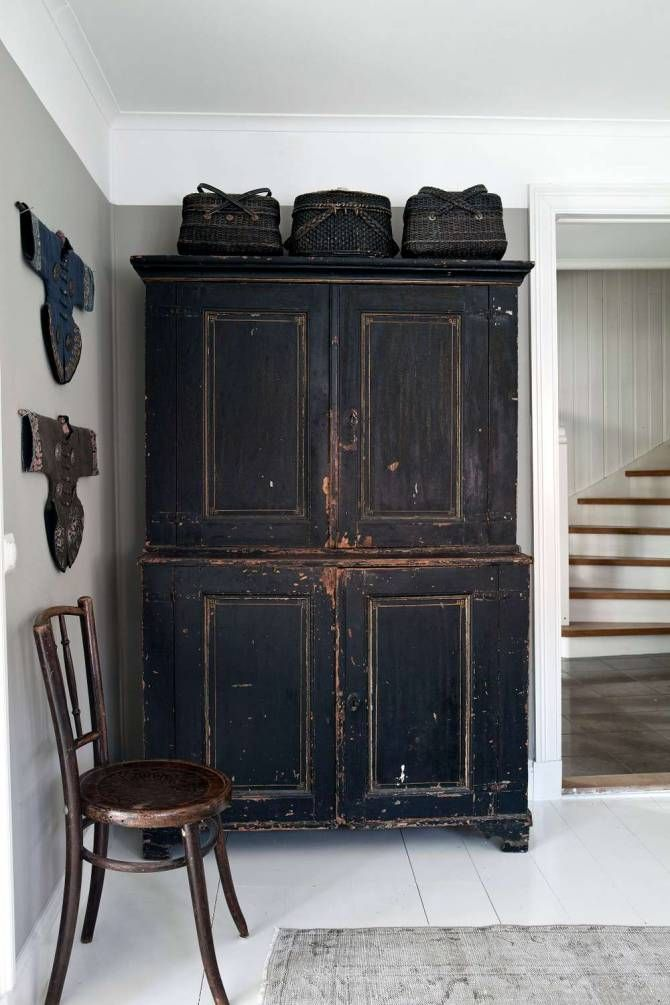 Best Black Distressed Furniture Ideas On Pinterest Rustic