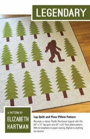 """Finished Quilt: 60"""" x 72"""" Fabric Requirements: - 4 1/2 Yards directional or 4 yards non-directional Background Fabric - 3/8 Yard Bigfoot and Tree Trunks - 1 5/8 Yards Trees - 3 7/8 Yards Backing Fabri"""