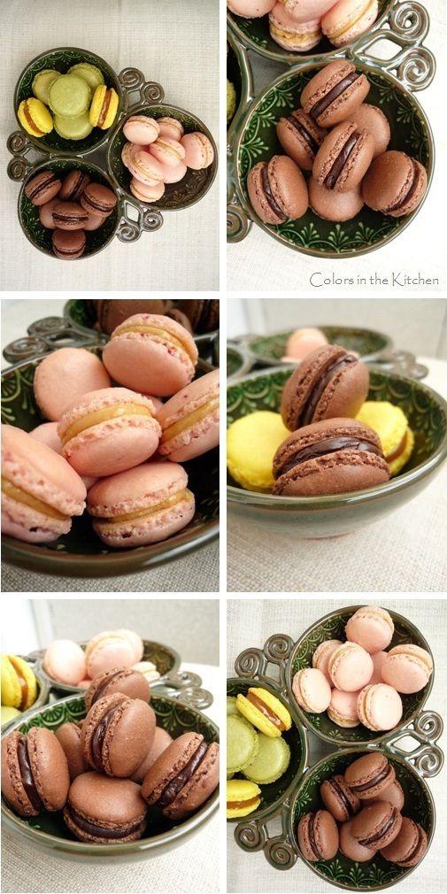Colors in the Kitchen: Kakaós macaron levendulás csokoládékrémmel