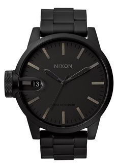 Chronicle SS, All Matte Black - mens designer watches on sale, top 10 mens watches, big face mens watches