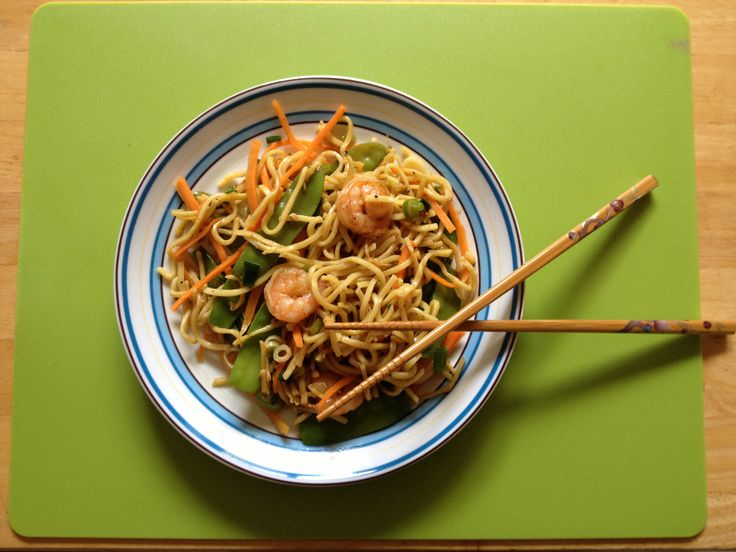Prawn Chow Mein- from Gok Cooks Chinese- cooked!