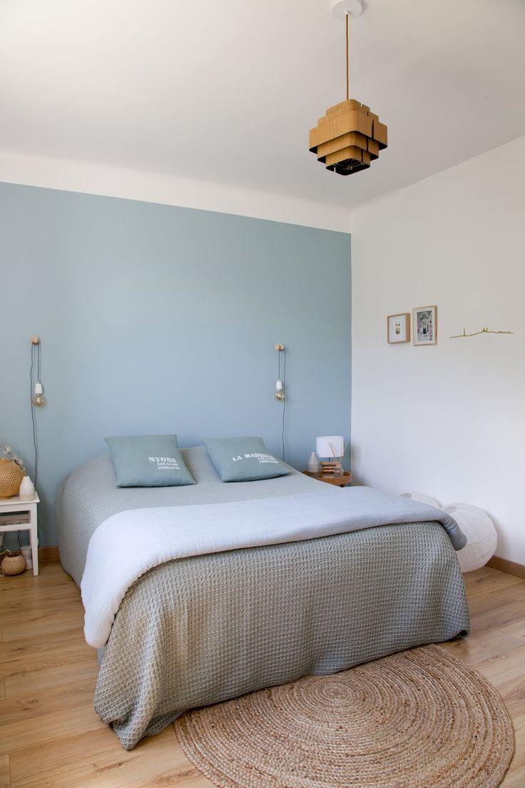 Douceur du bleu pastel côté chambre