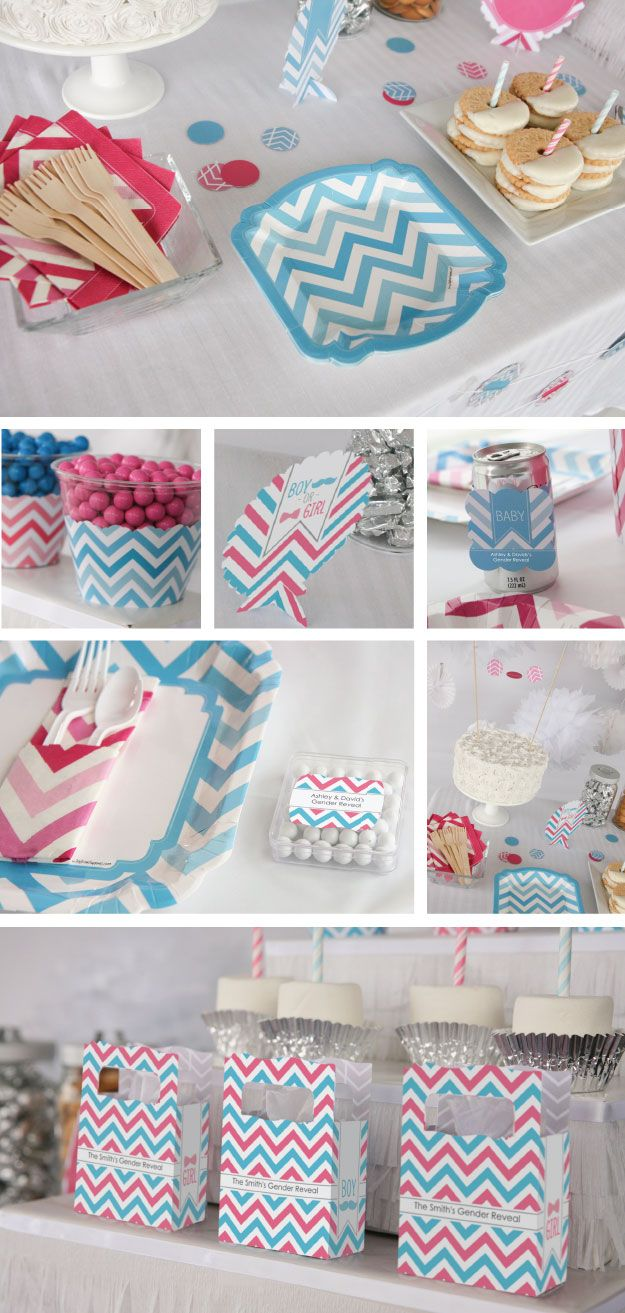 chevron party supplies decorations and ideas on pinterest baby