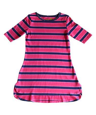 Love this Navy Striper Sweet Tea Taylored Tee Dress - Toddler & Girls on #zulily! #zulilyfinds
