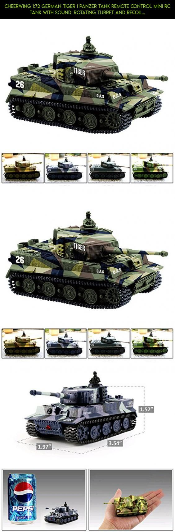 Cheerwing 1:72 German Tiger I Panzer Tank Remote Control Mini RC tank with Sound, Rotating Turret and Recoil Action When Cannon Artillery Shoots (Vary Colors) #technology #products #3.7v #fpv #drone #shopping #plans #parts #cheerwing #gadgets #racing #kit #camera #tech
