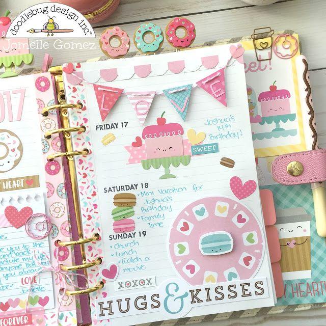 Doodlebug Design Inc Blog: Cream & Sugar Collection: Planner Love with Jomelle