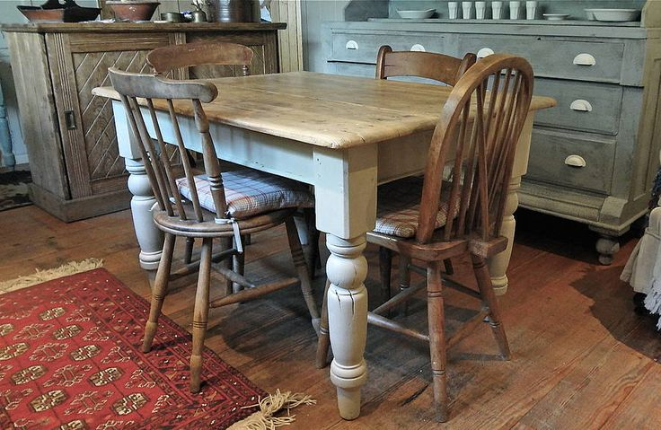pine farmhouse kitchen table by distressed but not forsaken | notonthehighstreet.com