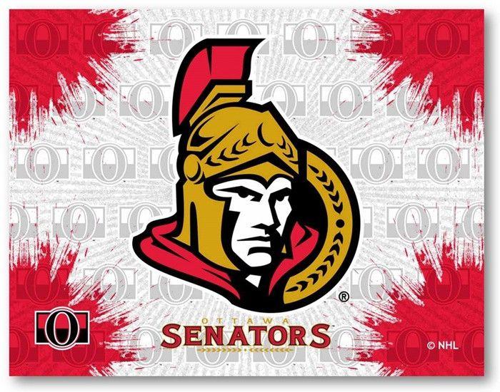 Ottawa Senators NHL D1 Printed Logo Canvas. Visit SportsFansPlus.com for Details.