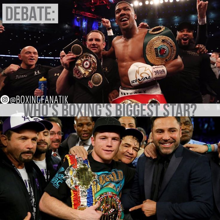 """Ok boxing fam, it's time for a debate. ➡️ Who is the biggest star in boxing today? Is it Anthony Joshua? Or is it Saul """"Canelo"""" Alvarez?  Let us know what you think!"""