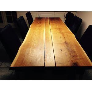 Spisebord, Egetræ, Custom design, b: 80 l: 224, Plankebord