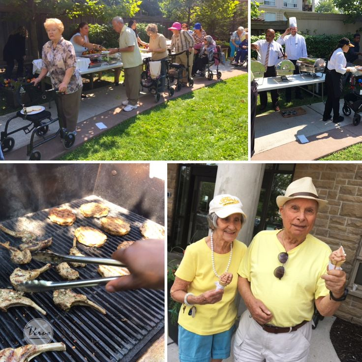 Four Elms Retirement Residence enjoyed an afternoon BBQ and ice cream!