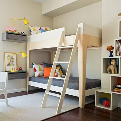 Scandinavian design bunk bed bedroom kids rm pinterest for Bunk bed bedroom designs