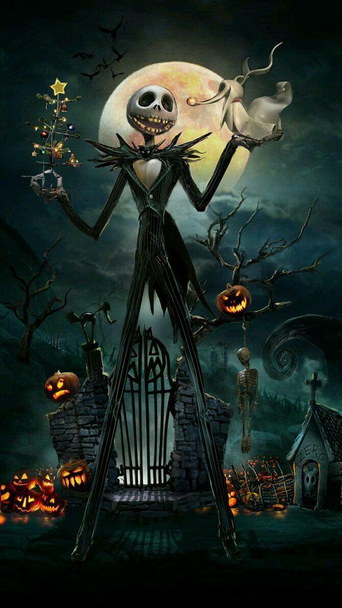 Wallpaper Halloween iPhone Nightmare before christmas