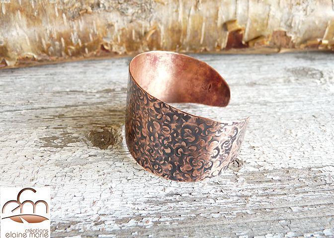Bracelet Cuff Cuivre   BR-1408-Ac