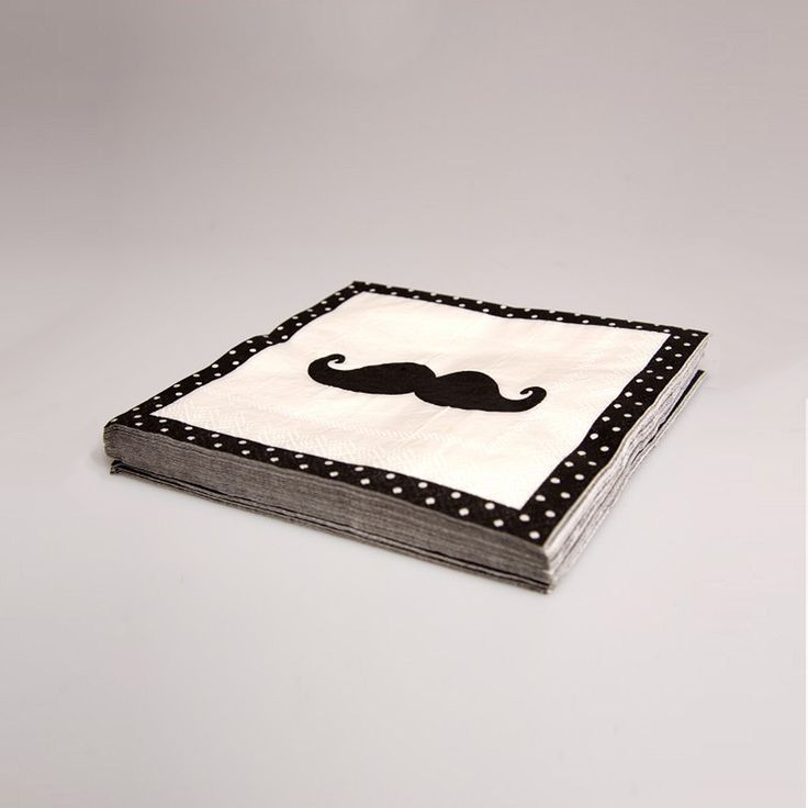 Moustache Napkins (20 pieces). Buy now here http://www.smallthings.gr/shop/dining-room-2/moustache-napkins-20-pieces/#.VL-qaS53AxI