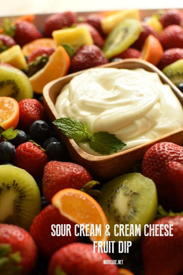 Sour Cream Cream Cheese Fruit Dip Recipe Cream Cheese Fruit Dip Fruit Dip Cheese Fruit