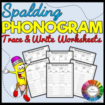 Get students practising all 70 of the Spalding phonograms with these essential trace and write worksheets. Students will trace and write words that contain the different phonograms making their specific sounds. Whilst working with each phonogram, students will also be practising their spelling and handwriting.  When completing the worksheet, the child will: • Practice saying the phonogram and identify how many and what sounds it makes by looking at the example words. • Trace and write…