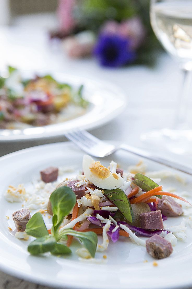 Salad with egg and potatoes