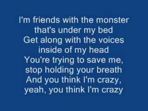 Eminem - The Monster (feat. Rihanna) [Clean with Onscreen lyrics] - YouTube