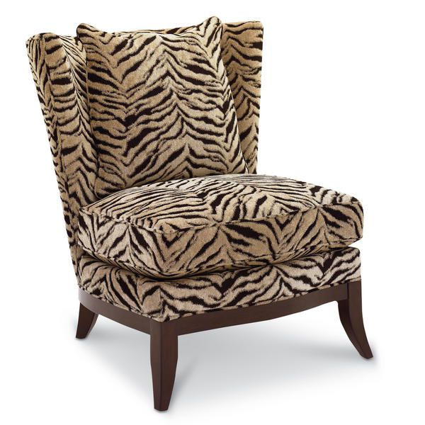 Delightful Brown Zebra Accent Chair