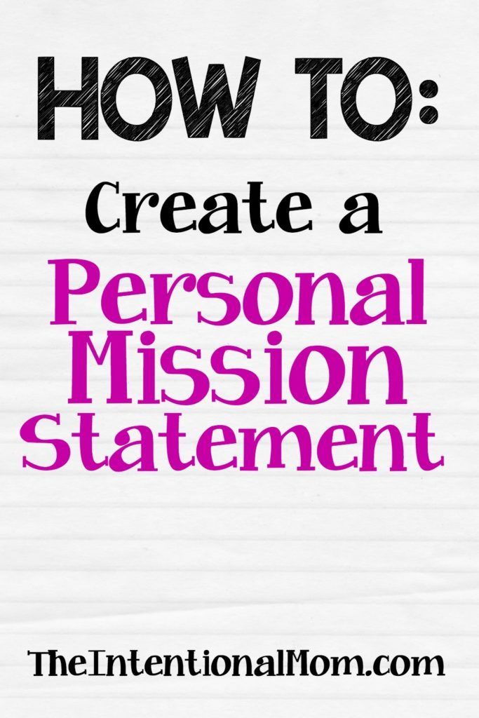 How To Create A Personal Mission Statement Example Examples Maker