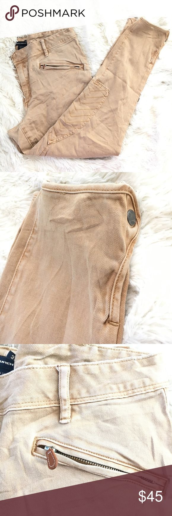 Ralph Lauren sport kaki motorcycle riding pants Good used condition. Zip pocket at waist and snap buttons around the ankle. ralph lauren sport Pants Skinny