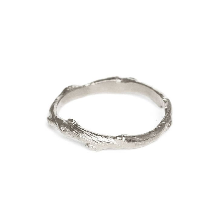 Infinity Twig Ring In Silver
