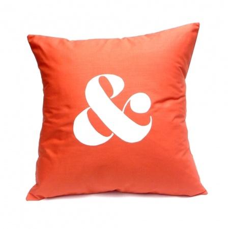 & in Orange - Handmade Cushion Cover - hardtofind.