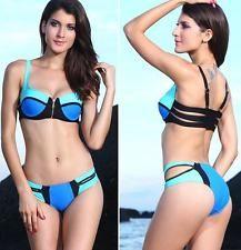 Sexy costume bagno completo Zip Decor push up  moda mare da donna L40963