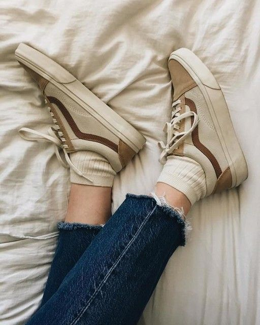madewell x vans® unisex old skool lace-up sneakers in camel colorblock 33b1287b5
